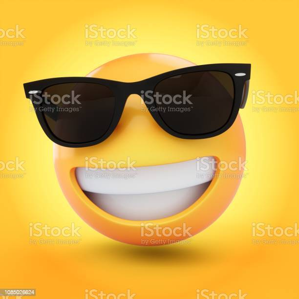 Rendering cool emoji with sunglass isolated on yellow background picture id1085026624?b=1&k=6&m=1085026624&s=612x612&h= l82rr80ldkayl d2zjfsscbqxksbl vd5h xwbtyxm=