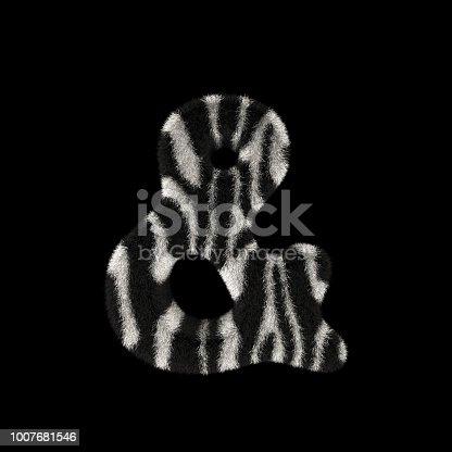 491530224istockphoto 3D Rendering Creative Illustration Zebra Print Furry Symbol Ampersand 1007681546