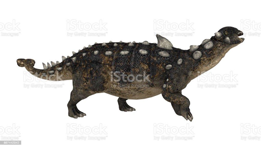 Dinossauro de renderização 3D Euoplocéfalo no branco - foto de acervo