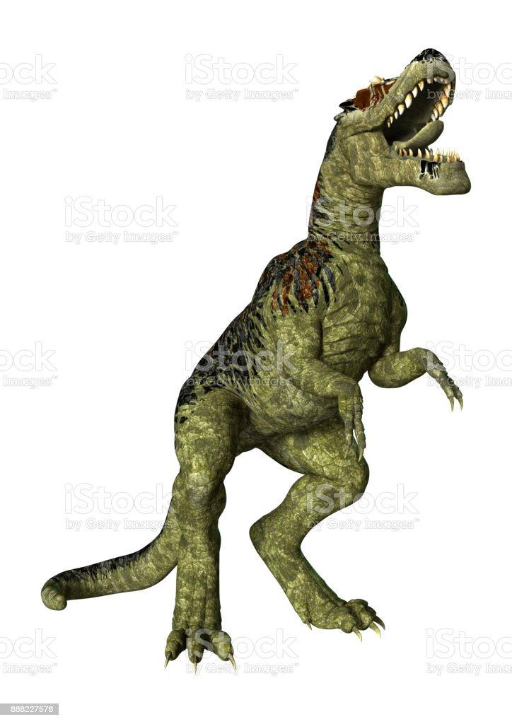 3D rendering dinosaur Tyrannosaurus Rex on white stock photo