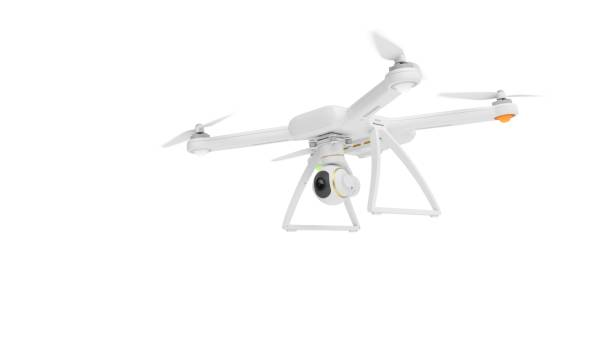 3d rendering drone isolated on white background - drones stock photos and pictures