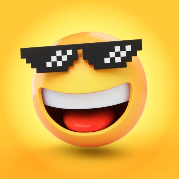 Rendering emoji with pixelated sunglasses isolated on yellow picture id1085026720?b=1&k=6&m=1085026720&s=612x612&w=0&h=o3rvzcmsxqz8y0zvhfeyyg1w0padfks4qn3ykinlvq0=