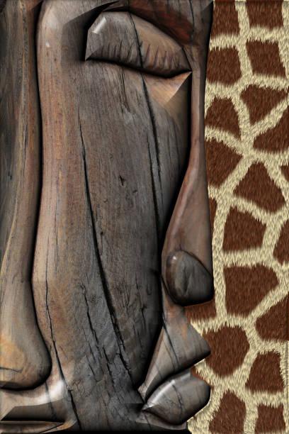 3D Rendering. Ethnic Wooden Totem stock photo