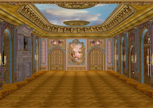 3d rendering fairy tale ballroom - sala balowa zdjęcia i obrazy z banku zdjęć