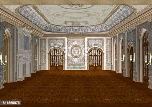 istock 3D Rendering Fairy Tale Ballroom 841869976