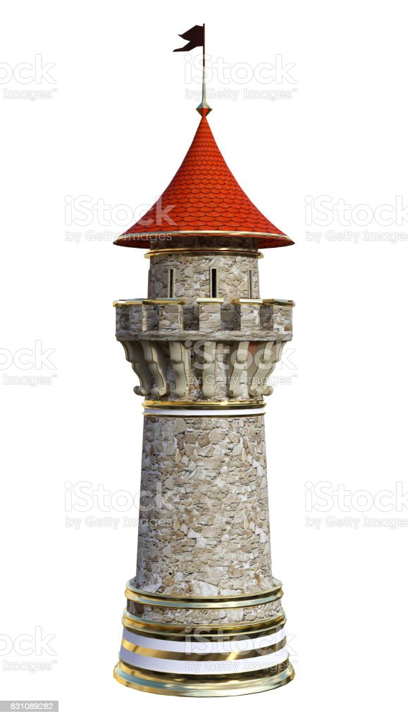 3D Rendering Fairy Tale Tower stock photo