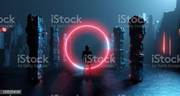 Rendering fantastic scifi cyber reality alone man in helmet inside picture id1222224137?b=1&k=6&m=1222224137&s=612x612&h=aeyjyra6r3z rhho9j4qgsqzgfz 9ycaylodyaulvsk=