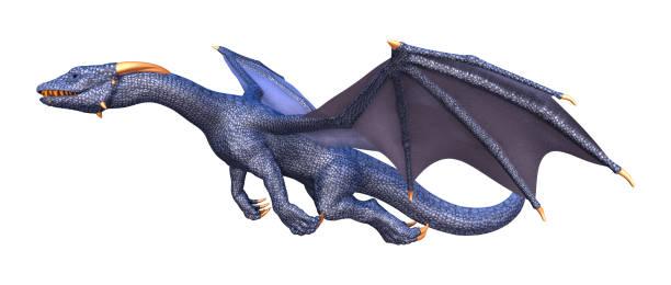 dragon fantastique rendu 3d sur blanc - dragon photos et images de collection