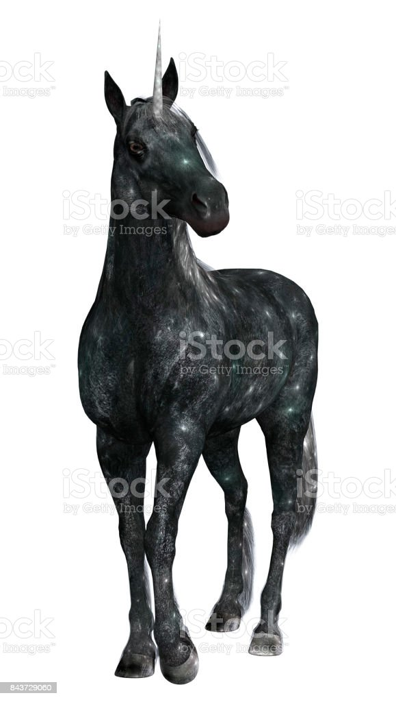 3D Rendering Fantasy Unicorn on White stock photo
