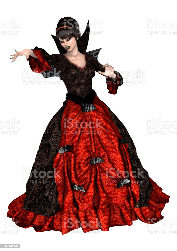 3D Rendering Fantasy Witch stock photo