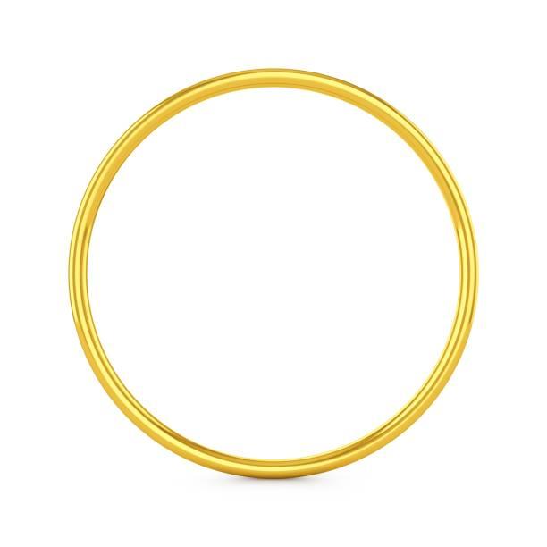 3D-Rendering Gold Ring isoliert auf weißem Hintergrund – Foto