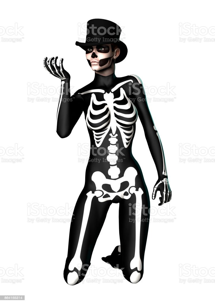 3D rendering Halloween party royalty-free stock photo