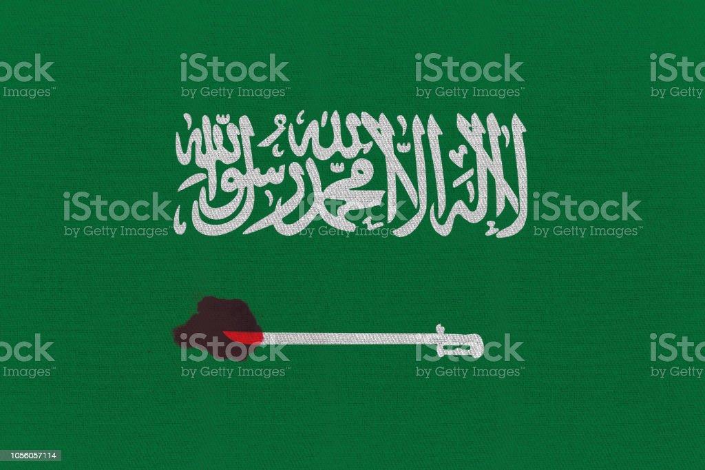 3D rendering idea for investigation into Saudi journalist brutal murder. stock photo