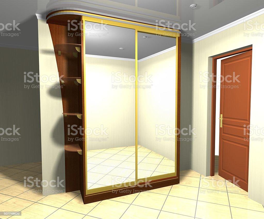 3 D Rendering Illustrazione Progettazione Interno Cabina Con ...