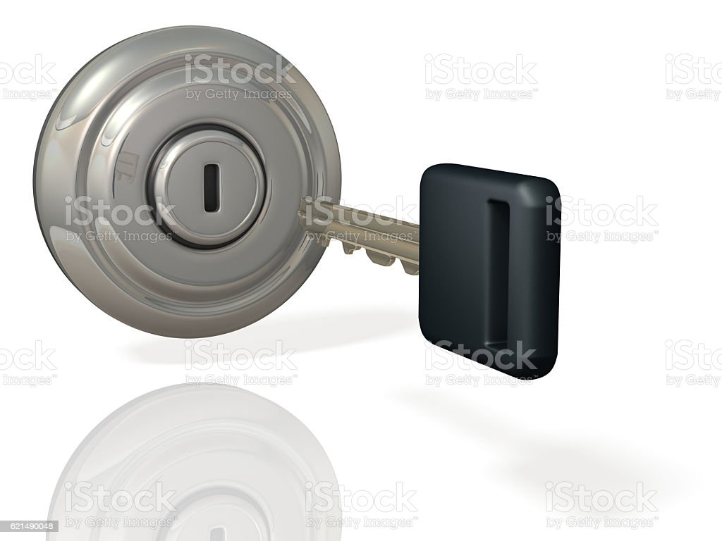 Rendering image depicting the start of the engine. foto stock royalty-free
