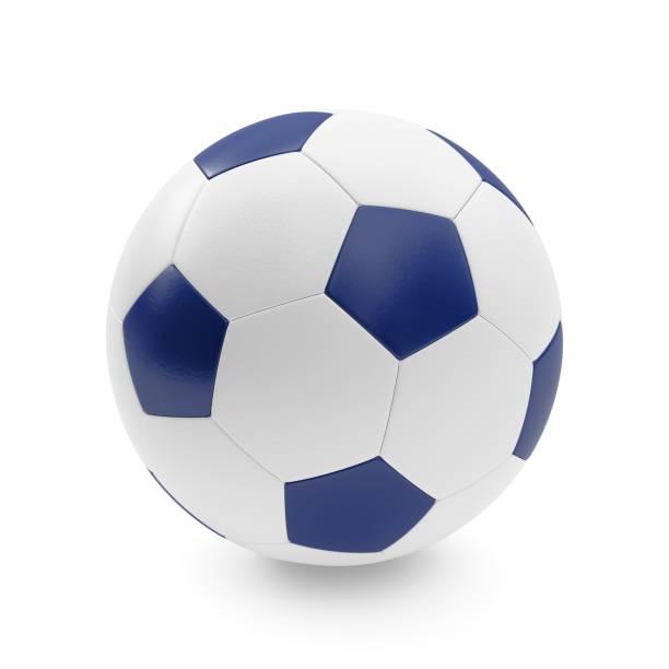 3D-Rendering isoliert Soccer Ball mit weißem Hintergrund – Foto