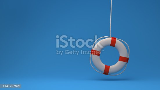 3D Rendering Life Preserver Isolated on Background
