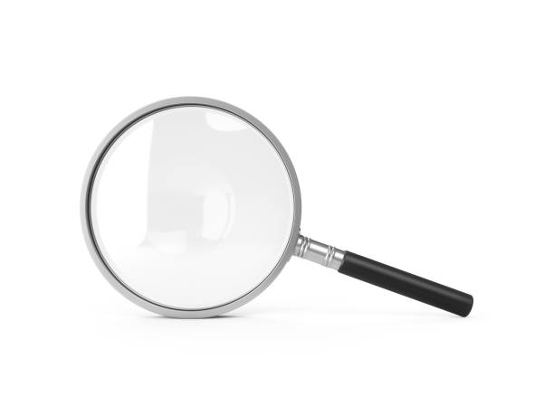 3D Rendering Magnifying Glass Isolated On White Background 3D Rendering Magnifying Glass Isolated On White Background. magnifying glass stock pictures, royalty-free photos & images