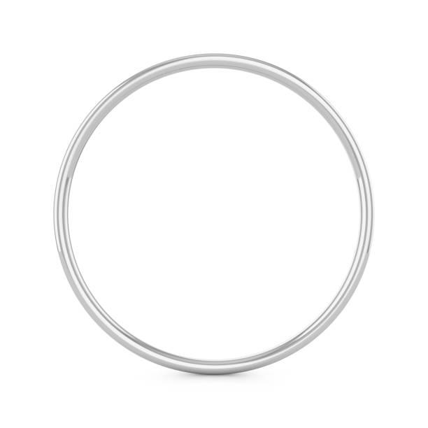 anneau de métal de rendu 3d isolé sur fond blanc - bague photos et images de collection