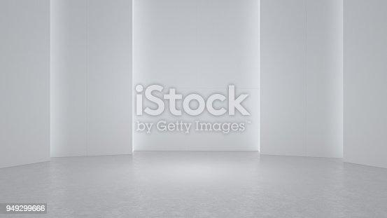istock 3D rendering minimalist and modern design studio room space background 949299666