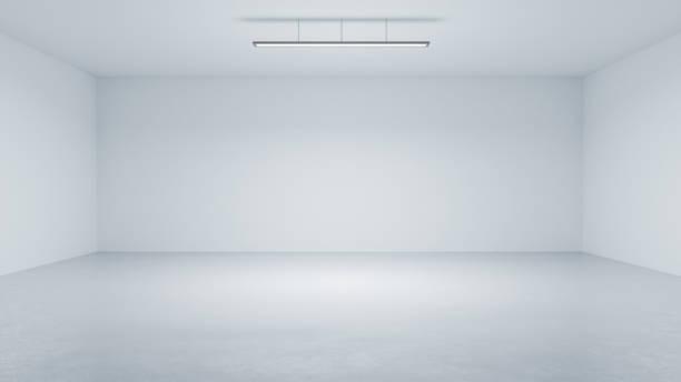 3D rendering minimalist  studio room space background stock photo