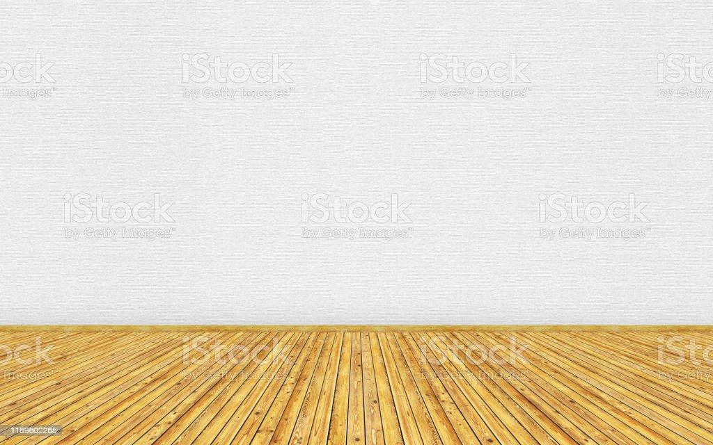 rendering mockup of empty living room with brown vintage wooden floor picture id1189602265