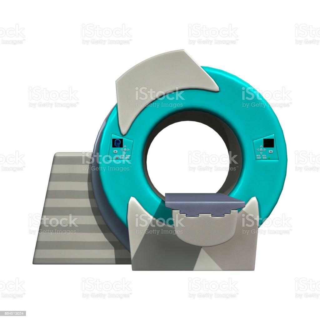 3D rendering mri or magnetic resonance imaging machine on white stock photo