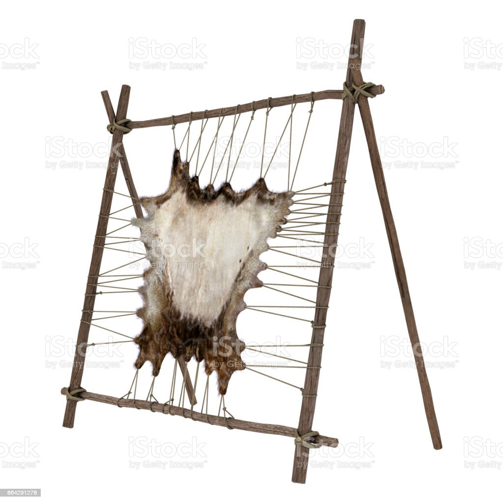 3D rendering native American rack on white royalty-free stock photo