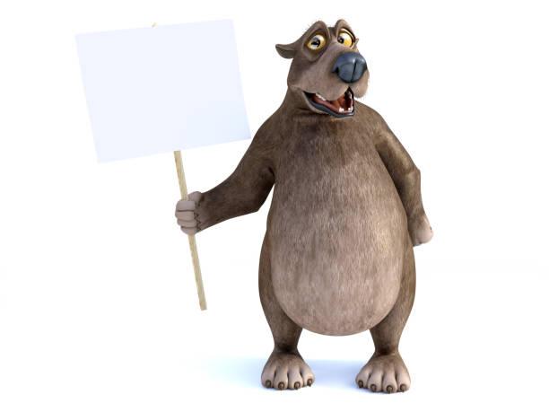 Rendering of a cartoon bear holding blank sign picture id1026484130?b=1&k=6&m=1026484130&s=612x612&w=0&h=1kmdrgmjoi 9ii2dpfcp ctzur68olbydtcpnu53dpq=