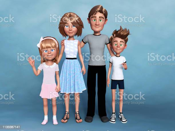 Rendering of a cartoon family portrait picture id1133387141?b=1&k=6&m=1133387141&s=612x612&h=lnfhy1amajd8racr52tbauuk8p0w bi5nh5ltfmiy88=