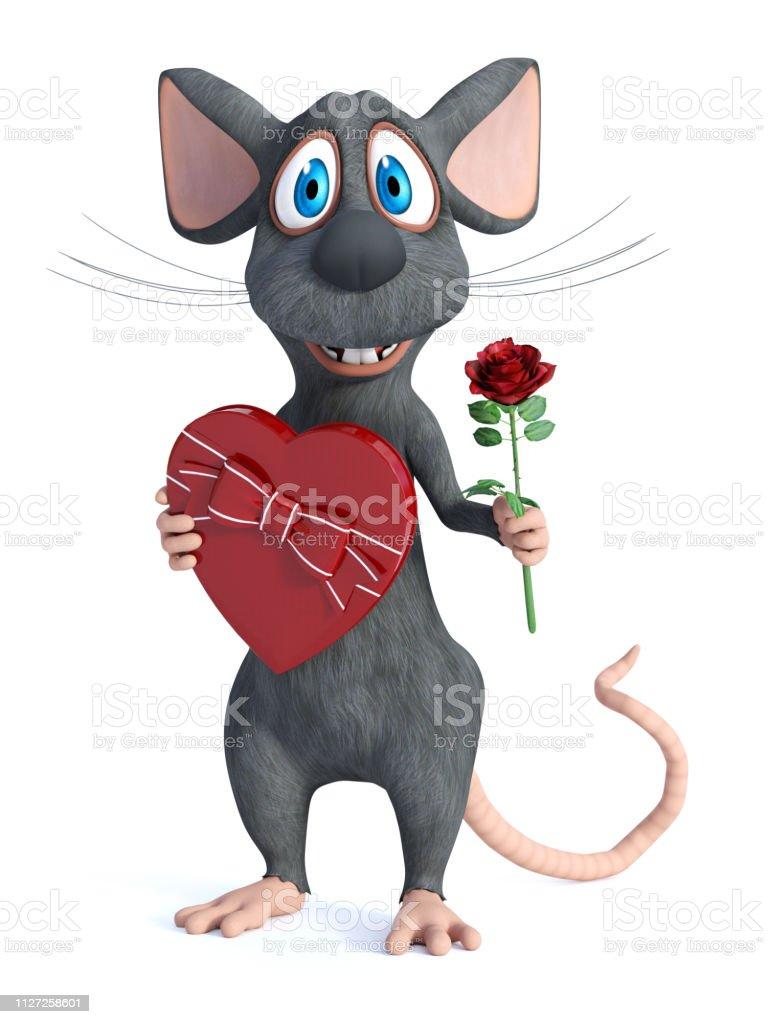 Romantik Olmak Bir Cizgi Film Fare 3d Render Stok Fotograflar Animasyon Karakter Nin Daha Fazla Resimleri Istock