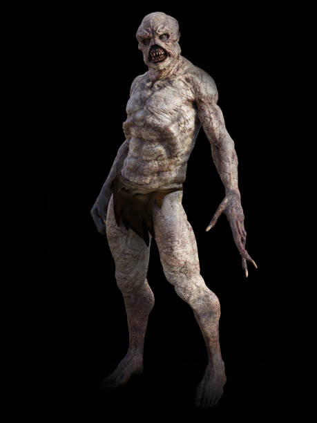 3D rendering of a fantasy demon monster creature. stock photo