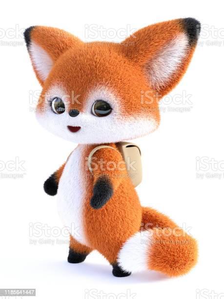 Rendering of a kawaii cartoon fox wearing backpack picture id1185641447?b=1&k=6&m=1185641447&s=612x612&h=yz1zwycaa5d6nqxmvygvpez5qe9dybxxcdkmhxiwkmi=