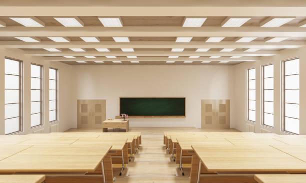 3D Rendering von einem Hörsaal – Foto