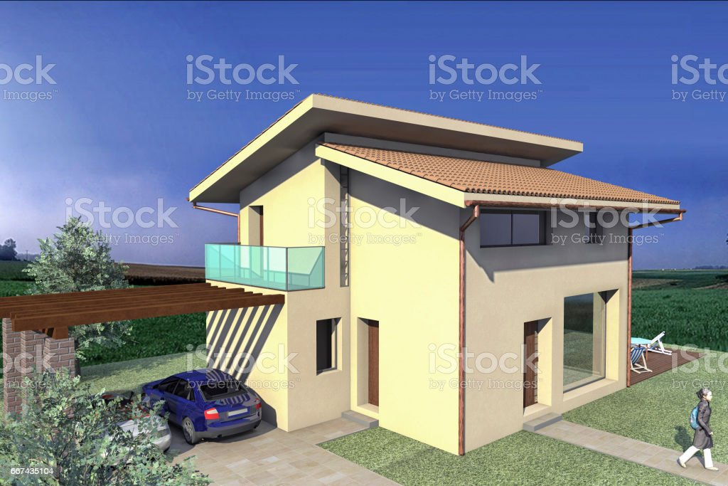 Rendering of a project stock photo