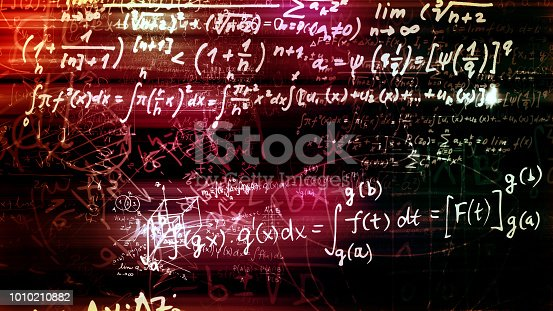 1168035793 istock photo 3D rendering of abstract blocks of mathematical formulas located in the virtual space 1010210882