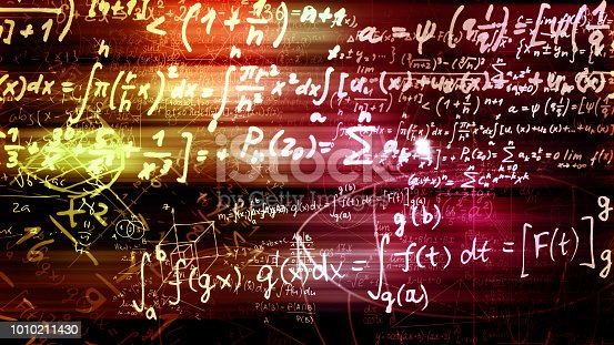 1168035793 istock photo 3D rendering of abstract blocks of mathematical formulas located in the virtual space 1010211430