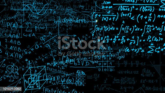 491375966 istock photo 3D rendering of abstract blocks of mathematical formulas located in the virtual space 1010212052