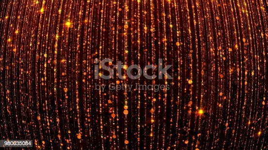 666540036istockphoto 3D rendering of abstract falling bright particles. Glamorous rain for background 980035084