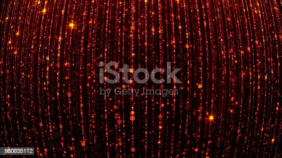 666540036istockphoto 3D rendering of abstract falling bright particles. Glamorous rain for background 980035112