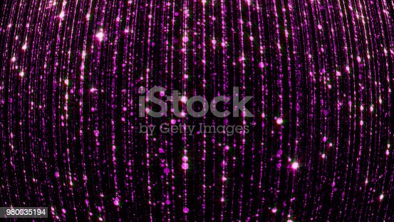 666540036istockphoto 3D rendering of abstract falling bright particles. Glamorous rain for background 980035194