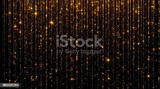 666540036istockphoto 3D rendering of abstract falling bright particles. Glamorous rain for background 980035264