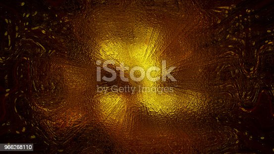 istock 3D rendering of abstract twists and prominences from bright particles. Patterns from light spots 966268110