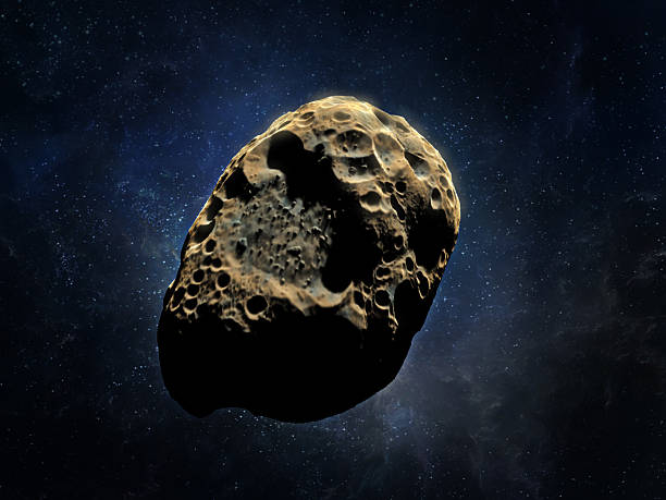 3D rendering of an asteroid stock photo