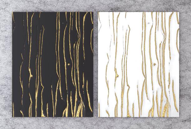 3d darstellung von schwarzen und weißen marmor mit goldfolie für hochzeit und gruß einladungskarte oder ihr projekt innenarchitektur dekorfliese, hochwertige nahtlose realistische textur hintergrund. - kunst 1. klasse stock-fotos und bilder