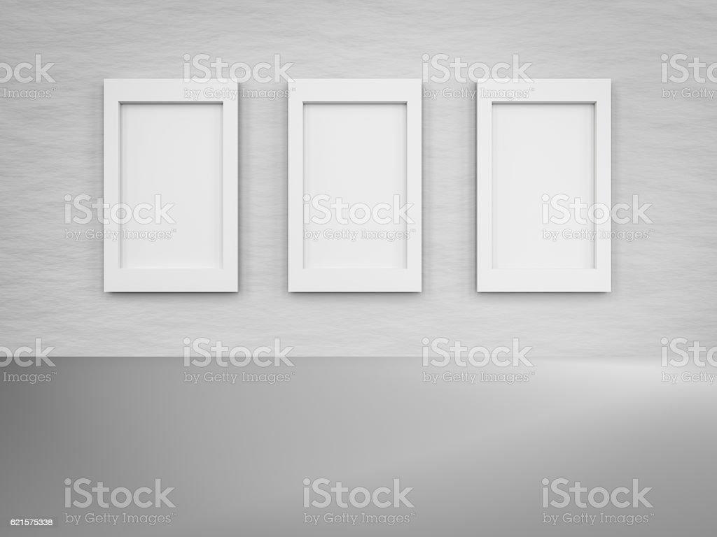 3 D vide Aperçu de l'image dans la galerie photo libre de droits