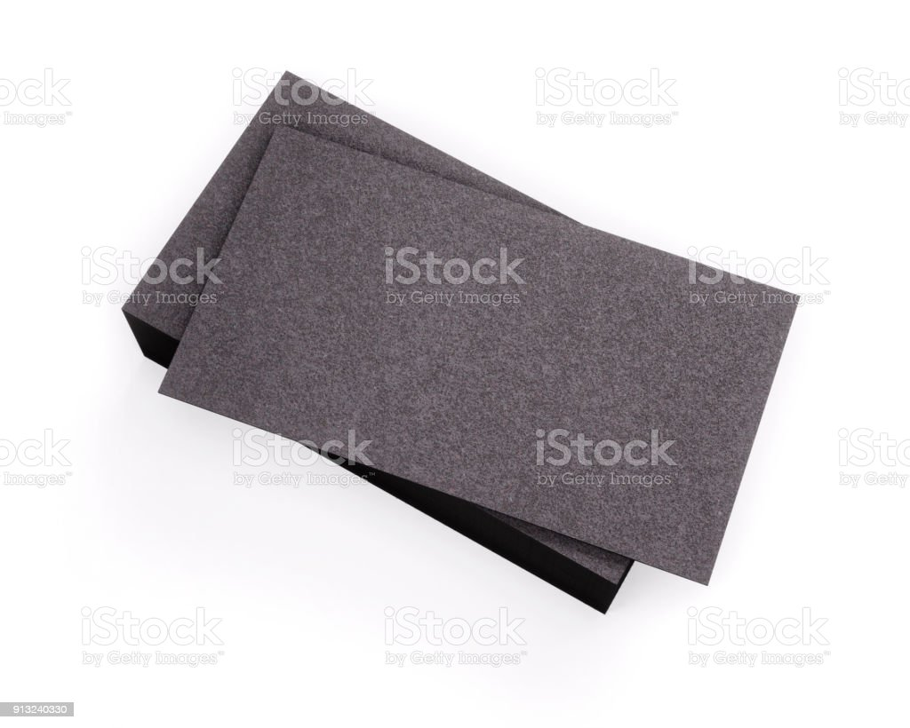 3d rendering of business card blank template black business cards 3d rendering of business card blank template black business cards isolated on white background accmission Gallery