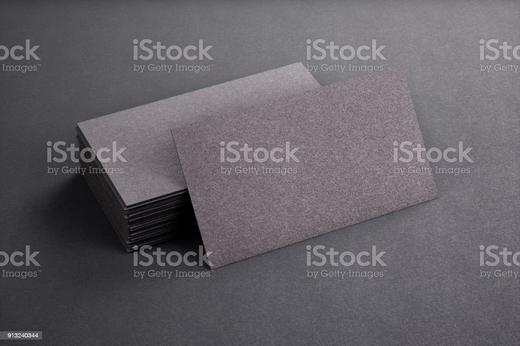 3d rendering of business card blank template black business cards on 3d rendering of business card blank template black business cards on black background royalty wajeb Choice Image