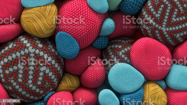 Rendering of colored floating spheres with a knitted texture abstract picture id871628804?b=1&k=6&m=871628804&s=612x612&h=fhaold1to 5kjfcb77f3twzqdc8pvvnierrfcsc7ipq=