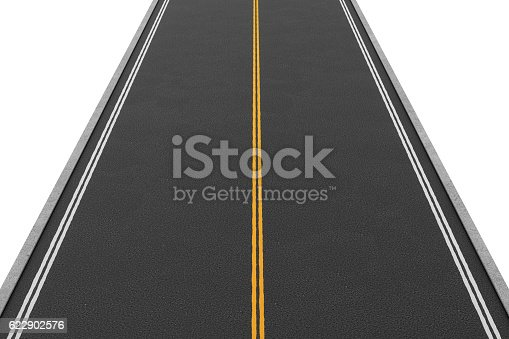 621693226istockphoto Rendering of empty two-way road covered with asphalt going 622902576